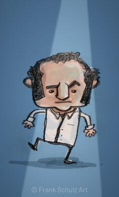 John Belushi, Digital kolorierte Zeichnung von Frank Schulz Art