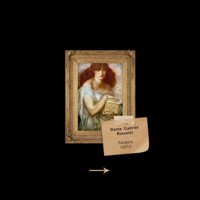 Pandora mit Büchse von Rossetti