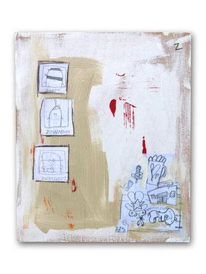 Z, Acryl auf Holz, 40 x 30 cm, © Frank Schulz 2007