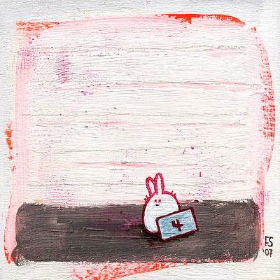 DIE ÜBLICHEN VERDÄCHTIGEN, Acryl auf Holz, 10 x 10 cm, Fünfteilig, © Frank Schulz 2008