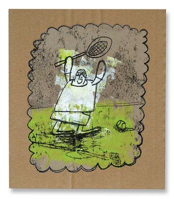 BORIS, Acryl auf Pappe, 27 x 20 cm, © Frank Schulz 2009