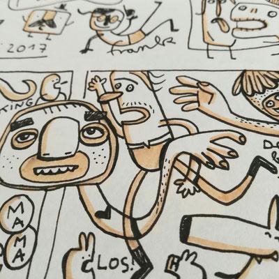 Illustration im Freien, Zeichnung von Frank Schulz Art