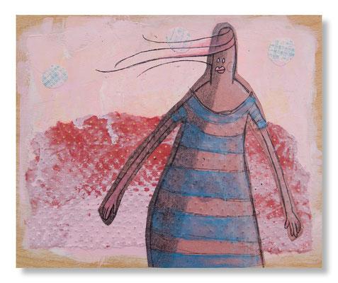 FRISCHER WIND, Acryl und Papier auf Holz, 30 x 40 cm, © Frank Schulz 2010