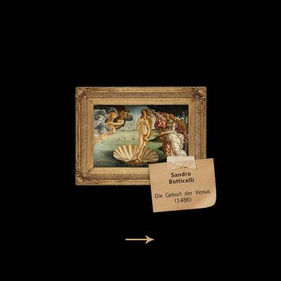 die Geburt der Venus von Botticelli