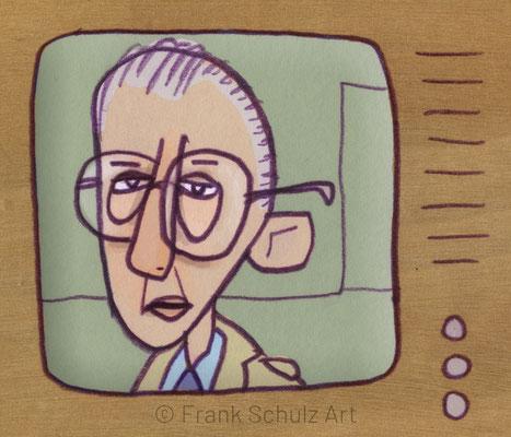 Derrick Fernsehkrimi, Digital kolorierte Zeichnung von Frank Schulz Art