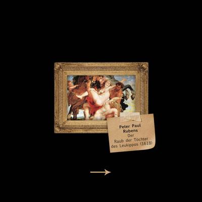Raub der Töchter des Leukippos von Rubens