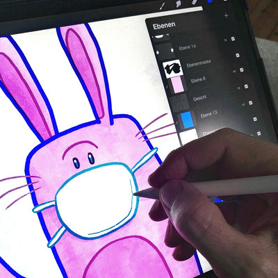 Making Of Osterhase 2020 in Procreate