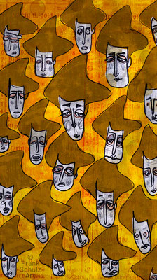 Adele Bloch-Bauer I , Acryl Zeichnung digital koloriert von Frank Schulz Art, Meisterwerk Reloaded nach Gustav Klimt