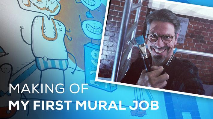 Making-Of-Video: Mein erstes Wandgemälde
