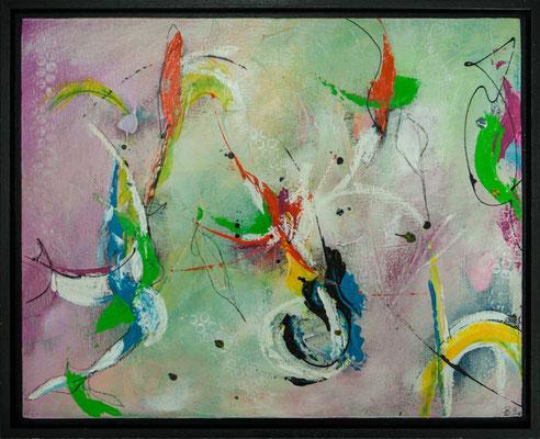 """Nr. 375 """"Leichtigkeit der Farben"""", 40x50cm, 50,-€"""