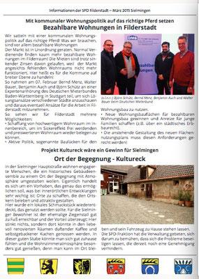 """Also erschien ein großer Artikel über unser Projekt in der März Ausgabe des """"Marktblättle"""""""