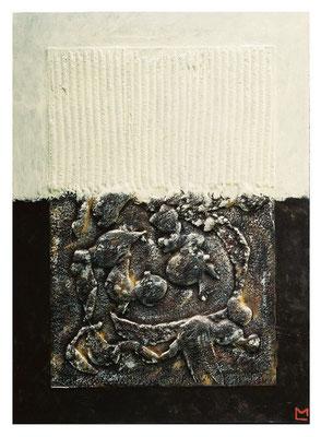 Trasmutazione, 2001, tecnica mista su tavola, mm 550 x 400