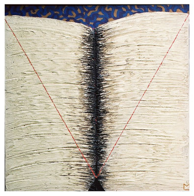 Grande libro sufi, 2002, tecnica mista su tavola, mm 650 x 650