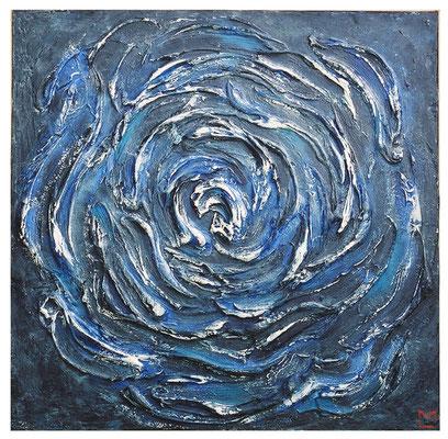 Rosa di Nettuno, 2001, tecnica mista su tavola, mm 450 x 450