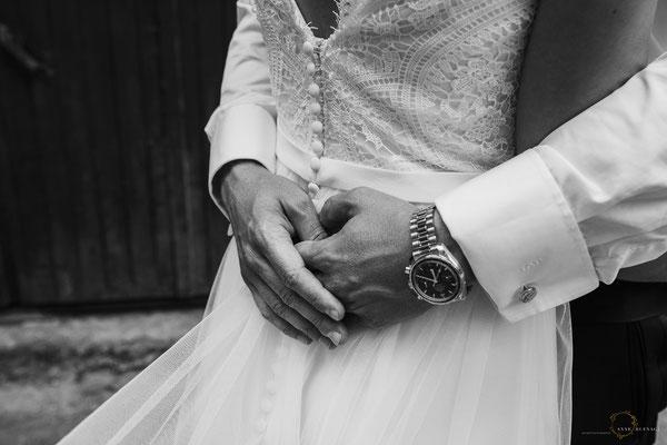 Close-Up Hände Braut und Bräutigam / Fotografin: Anne Hufnagl
