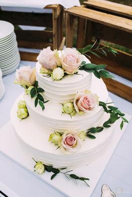 Foto der wunderschönen Hochzeitstorte