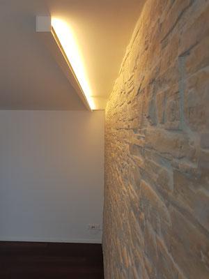 Steinwandbeleuchtung Salzstein Wand Salzkristalle