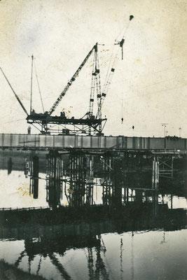 Bau des Schiffshebewerks Magdeburg-Rothensee