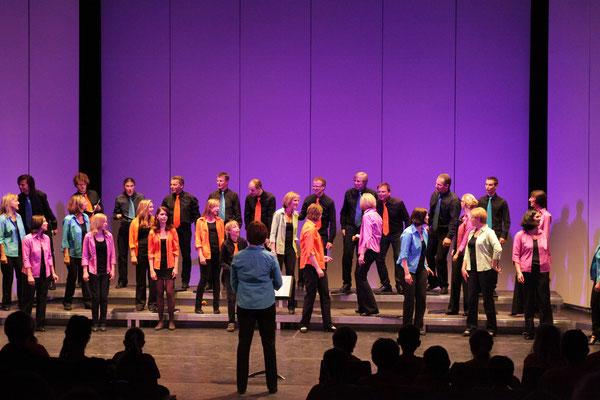 Mit dem Lied Landleben sind wir unter anderen beim Wertungssingen des Chorverbandes an