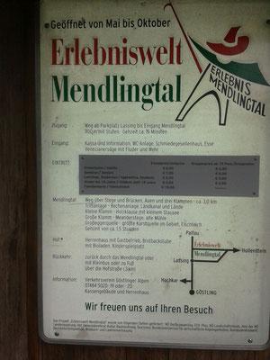 Auch im Mendlingtal regenet es