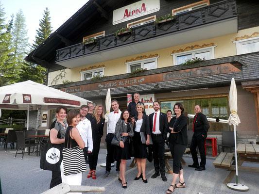 Ankunft beim Haus Alpina