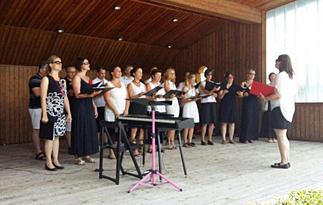 Singen in St. Wolfgang bei der Station Schafbergbahn