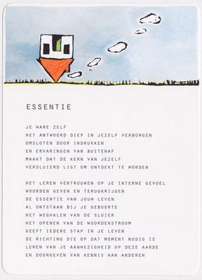 Illustratie bij gedicht 'Essentie' van Karin de Smit