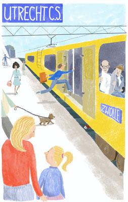 Educatieve illustratie voor taalonderwijs