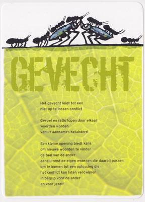 Illustratie bij gedicht 'Gevecht' van Karin de Smit