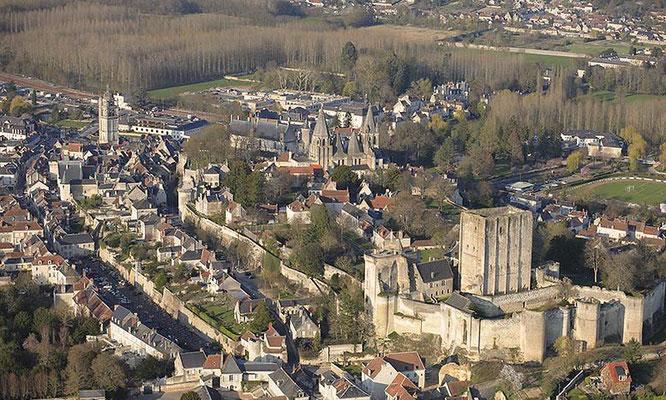 Cité médiévale de Loches en Indre et Loire