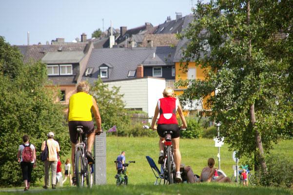 Viele Radbegeistere sind unterwegs