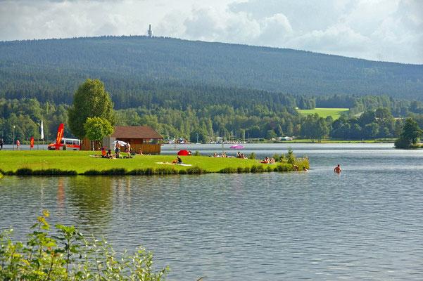Badeinsel Weißenstädter See