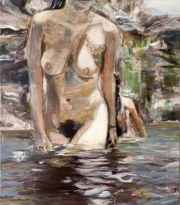reflection, 2020, 65 x 58 cm, oil on linen