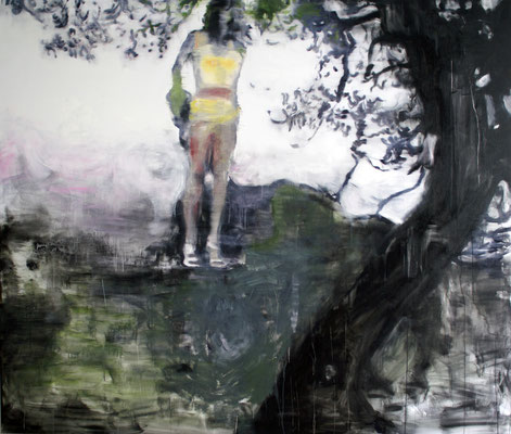 Dark Tree 170x200 cm Oil/Graphite/Canvas 2013