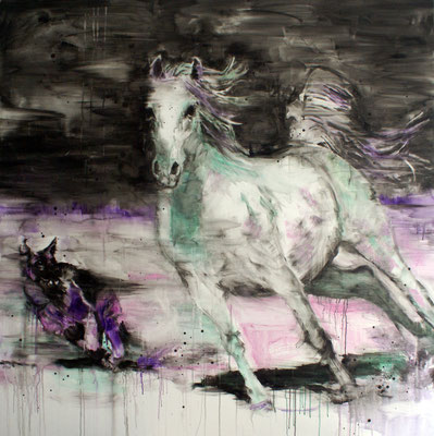 White Horse 1 170x170 cm Oil/Canvas 2011