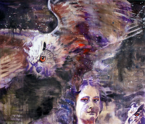 Owls 120x140 cm Oil/Canvas 2012