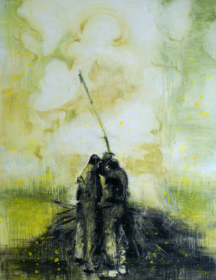 Burning 130x100 cm Oil/Canvas 2012