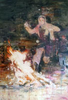 Fire 220x150 cm Oil/Canvas 2010