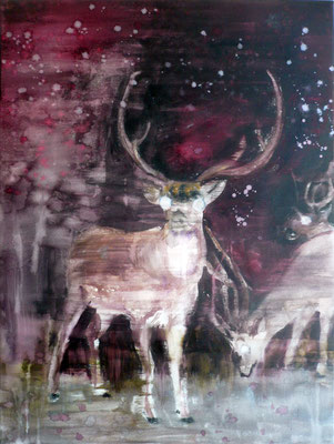 Nightdeer 1 80x60 Oil/Canvas 2010
