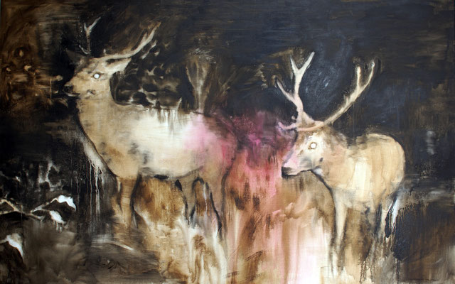 Nightdeers11 100x160 Oil/Canvas 2012