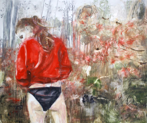 Red Pullover 150 x 180 cm Oil/Graphite/Canvas 2013