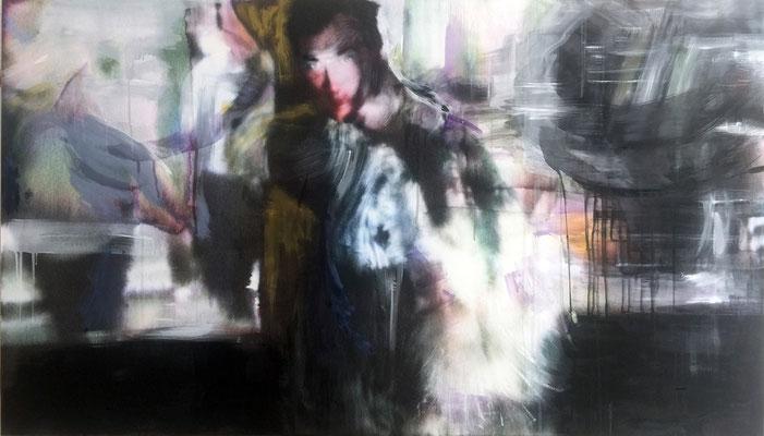 """Marc 1"", 100 x 177 cm, Oil, Pigmentprint, Paper, Aludibond, 2016"