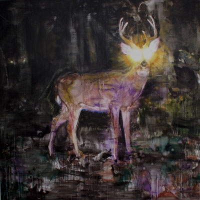 Nightdeer 4 160x160 cm Oil/Canvas 2010