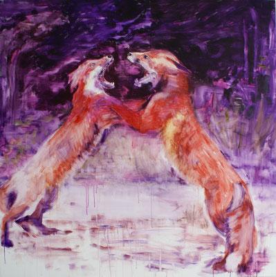 Fuchsia 150x150 cm Oil/Canvas 2010