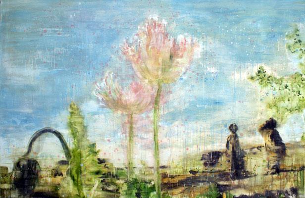 poppies 5, 130 x 200 cm, oil on linen
