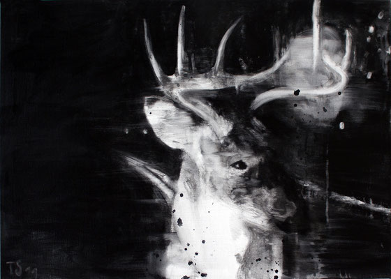 Nightdeer 9 50x70 cm Oil/Canvas 2011