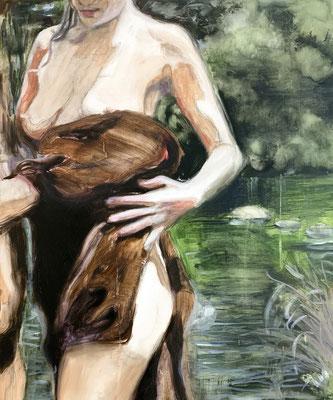 amazonlove, 2020, 60x50 cm, oil on linen