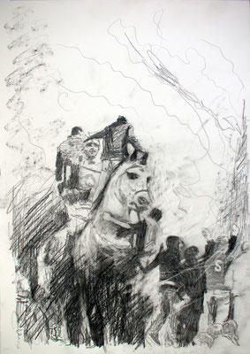 Egyptian Horse 42x29,7 cm Graphite/Paper 2012