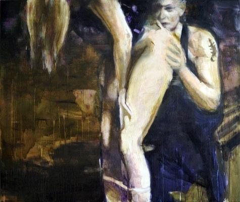 Love is a vampire 160x190 cm Oil/Canvas 2014