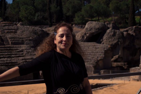 One of our coordinators as a Roman in Italica